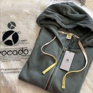 nwt // avocado paz full zip fleece lined hoodie